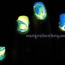 Glow in the dark watermarble!