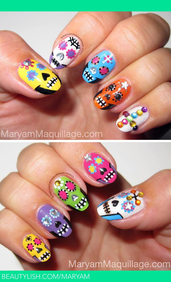 Sugar Skulls Nail Art Maryam Ms Maryam Photo Beautylish