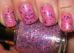 Revlon Girly over Sally Hansen Bubblegum Pink