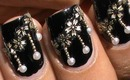 Hanging Pearls ! Nail art design with Beads from sammydress- Pearl Nail Designs Nails Polish