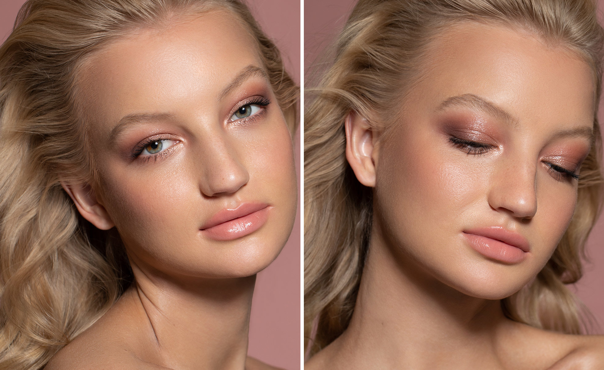 Look created with Wayne Goss The Luxury Eye Palette Pearl