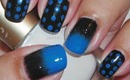 Nail Art - Gradient and Dots - Decoracion de Uñas