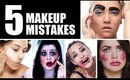 THE FIVE BIGGEST MAKEUP MISTAKES EVER!!!!
