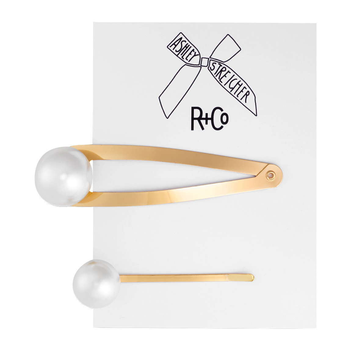 R+Co Pearl Hair Pins product swatch.