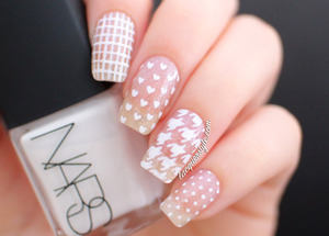 More info & photos here: http://www.lacquerstyle.com/2014/01/white-negative-space-mix-match-nails.html