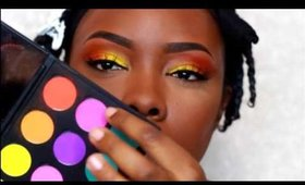Bright Yellow and orange makeup for SUMMER│Tamekans