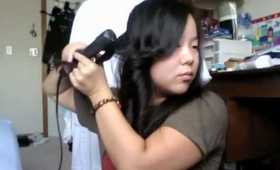 How to curl your hair with a straight iron