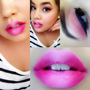 Supporting Breast Cancer Awarness🎀 Ombré lips and pink lids! I used MAC's Saint Germain and Impassioned on the lips.