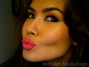 Nars Schiap, Clinique brush-on liner in True Black, don't remember the lashes, sorry www.maryammaquilage.com