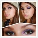 Purple and taupe