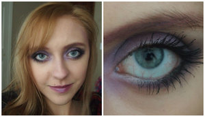 Today I did this purple look with purple eyebrows, eye shadow, lips and countering!