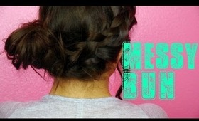 Braided Messy Bun Tutorial! Laidback & Girly