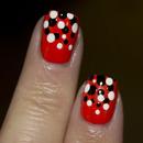 Halloween Gradient Dot Nails