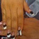 Black n white gel polish