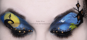 Created this with eyeshadows and liquid eyeliners!