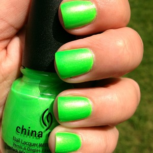 From the China Glaze Summer Neons Collection