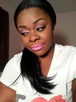 A light, pink look
