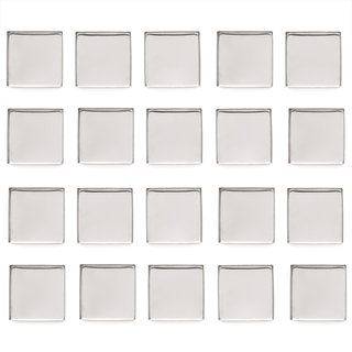 Empty Metal Pans 20 Pack - Square