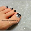 Black & White Toenail Art Design ♥ Monochrome Pedicure