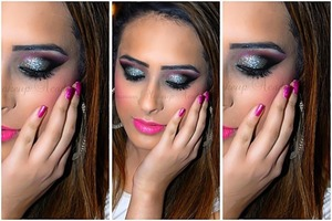 Glitter, party look