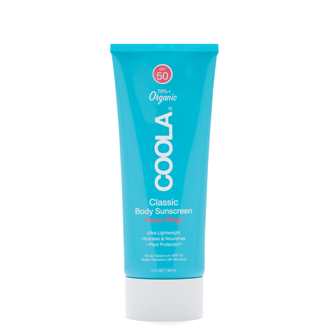 COOLA Classic Body Sunscreen Moisturizer SPF 50 Guava Mango product swatch.