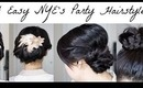 4 Easy NYE's or Holiday Work Party Hairstyles!