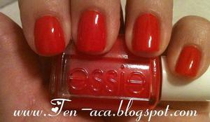 "One of my nail posts from my blog: Essie's ""Too Too Hot"""