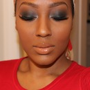 Grey Smokey Eye With Nude Lip