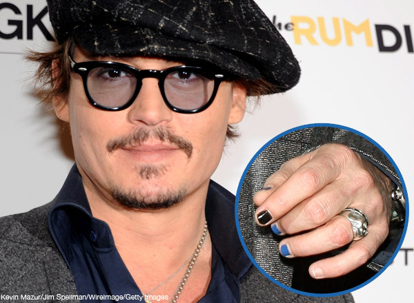Would your man rock nail polish beautylish colorful manicures were looking at you johnny depp so why cant a normal guy take the polish plunge male polish nail lacquer designed for men prinsesfo Image collections