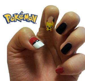 A cute pokemon nail art (: Easy and fun!  Follow me on Twitter: @nleenails Follow me on Tumblr: nleenails.tumblr.com
