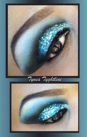 StellaStarish faux fur and poseidon with MAC Cosmetics carbon and iridescent glitter added on top ♥