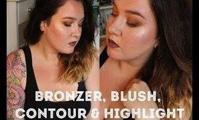 bronzer, blush, contour & highlight. • MEG UP •