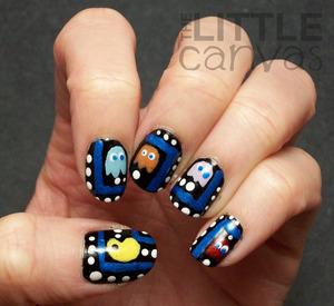 http://thelittlecanvas.blogspot.com/2013/03/pac-man-nail-art.html