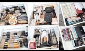 CLEANING & ORGANISING MY ENTIRE MAKEUP COLLECTION!!!