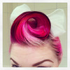 Pink victory roll
