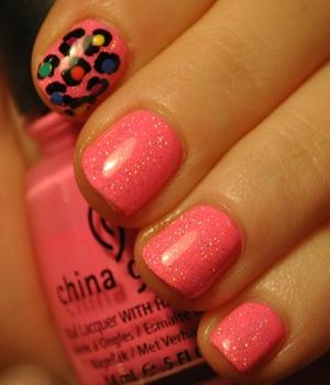 nail art cheetah