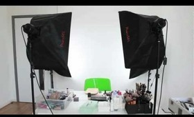 Lighting & Camera Set-up for YouTube Make-up Tutorials