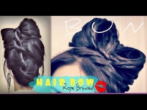 ★how To Hair Bow Tutorial Upside Down French Rope Braid