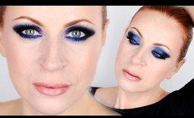 Dark & Glitter Blue Smokey Eyes