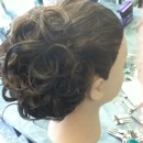 Roller set comb-out updo
