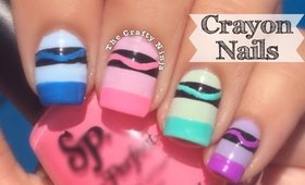 Crayon Nail Art by The Crafty Ninja