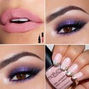 Smokey Purple, Pink & Nude Summer Look.
