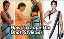 How To Drape The Dhoti Style Sari
