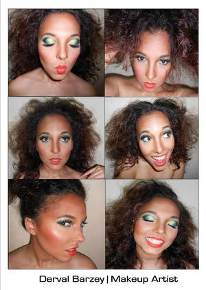 The many moods of makeup.
