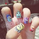 Disney's Inside Out Inspired Nails.