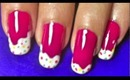 Candy Frost nail art tutorial.... :-)