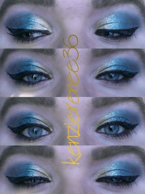 Same as my purple one, I just decided to use blue instead... if you want the products used just comment on my profile...