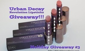 UD Revolution Lipsticks Giveaway!!!  3 Nudes [Holiday Giveaway #3]