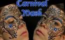 Carnaval Mask with Blue Rhinestones