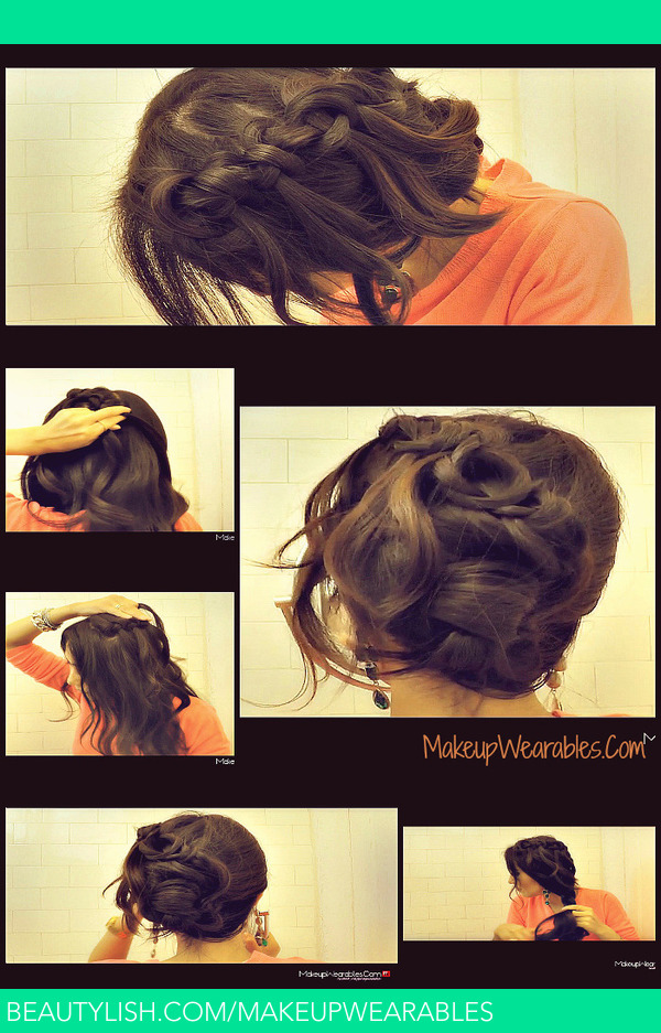Knotted Waterfall Braid Hair Tutorial Video Tina Makeupwearables